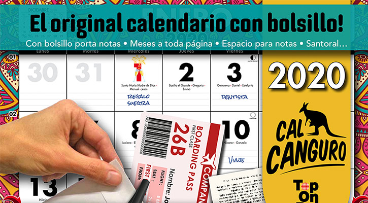 Calendario Canguro 2019 Top-On-Pot